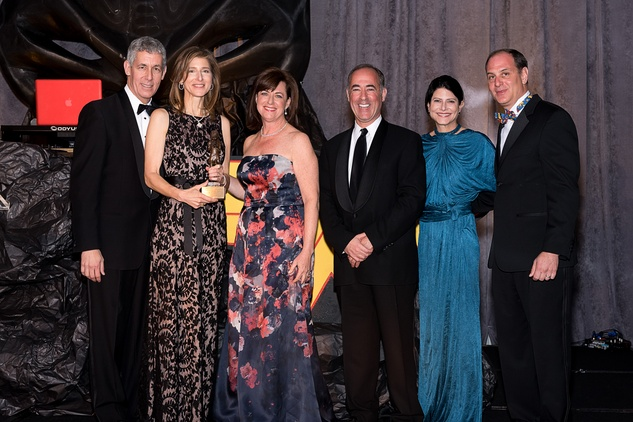 74 Bobby and Eve Lapin, from left, Lauren and Jeremy Blachman, Marci Rosenberg and Ben Samuels at the Jewish Community Center Children's Scholarship Ball March 2015