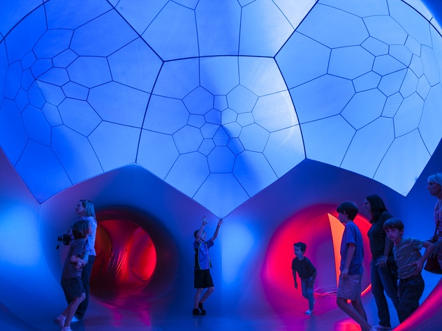 Architects of Air Luminarium Pentalum Long Center blue kids 2015