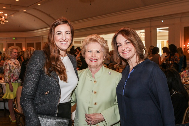 Rozlind Power, from left, Ginger Blanton and Shelly Power at the Passion for Fashion luncheon March 2014