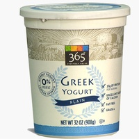 Whole Foods 365 plain greek yogurt