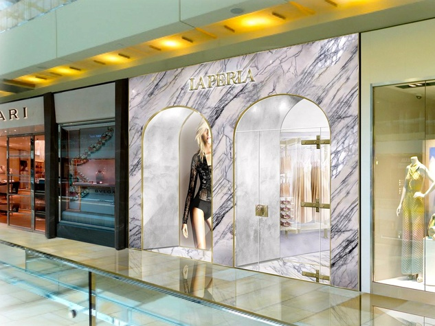 Houston, La Perla The Galleria, exterior rendering
