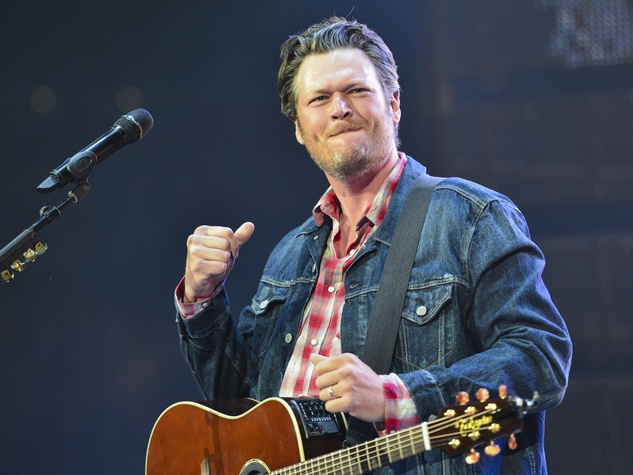 Blake Shelton in concert at RodeoHouston March 2014
