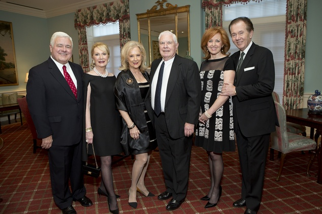 176 Bill and Kathi Rovere, from left, Mary Ann and David McKeithan and Nancy and Hans Strohmer at the Living Bank Gala October 2014