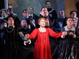 News_Houston Grand Opera_May 2012_Mary Stuart_Joyce DiDonato_HGO Chorus