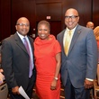 5612 James Davis, from left, Diane Maben and Thomas Jones at the Girls Inc. luncheon May 2014