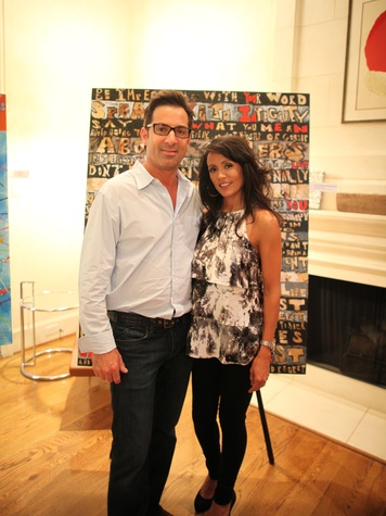 Michael Caplan, Diane Caplan at the Taft McWhorter art launch of the series, Double Entendre