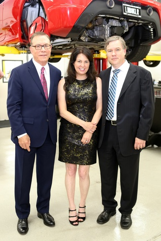 Dr. Stanley Jones, from left, with Elizabeth and Andrew Knizley at the Joints in Action at Ferrari of Houston June 2014
