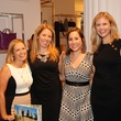 5 Casey Charles, from left, Megan Cutlip, Lauren Bump and Sarah Vannatter at The Orange Show's A Couture Cause party