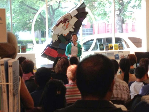 Christine Ha at Brazos Bookstore Houston June 2013 RUN FLAT