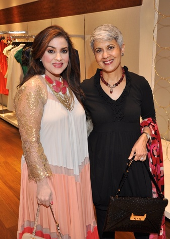 37 Maha Khan, left, and Neelofur Ahmad at the Third International Mothers Day Soiree Kick-off March 2015