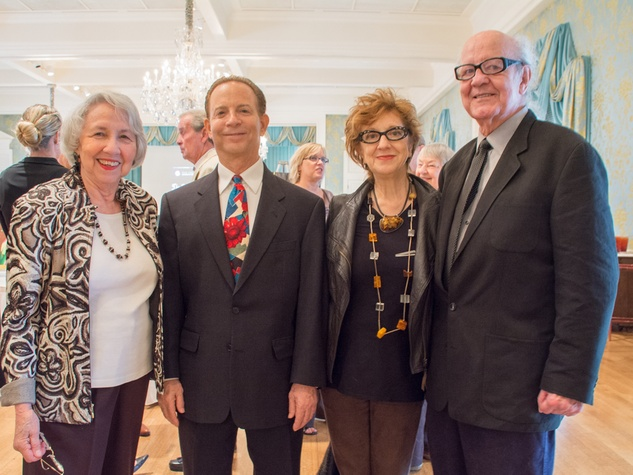 14-14 Mary Harburg, from left, Lester Marks, Anya Tish and H.J. Bott at the Community Artists' Collective's luncheon September 2014