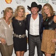 75 Debbie Clemens, from left, Susan Plank, Clay Walker and Megan Sutton-Reed at Bands Against MS