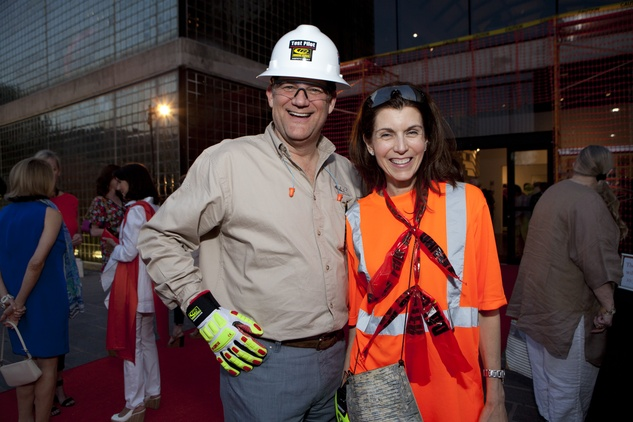 Russell and Lisa Sherrill at the Glassell School benefit and auction May 2014