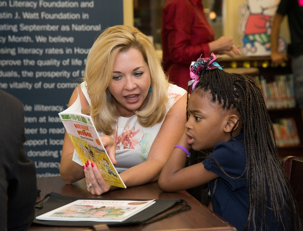 News, Shelby, AdvoCare reading event, August 2014, Julie Baker Finck