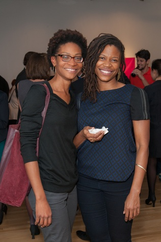 News, DiverseWorks MATCH party, Dec. 2015 Abijan Johnson, M'Kina Tapscott