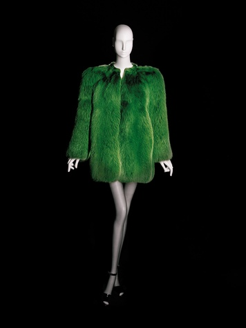 News_Donae Cangelosi Chramosta_Yves Saint Laurent_Denver Art Museum_March 2012_YSL La collection du scandale-short evening coat