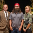 Houston Lane, from left, Jep Robertson and Paige Lane at the LifeHouse Houston Duck Dynasty dinner September 2014