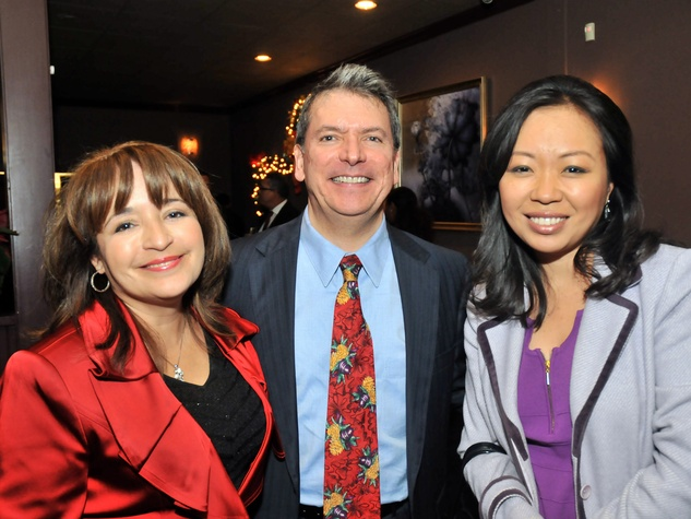 5, Hispanic Advisory Board party, December 2012, Alva Trevino, Roland Garcia, Miya Shay