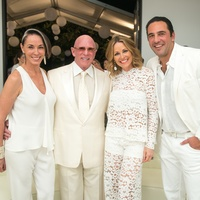 7 Sue and Lester Smith, from left, and Lucinda and Javier Loya at the Texans White Party September 2014