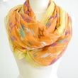 the impeccable pig orange tribal scarf