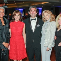 Crisis Hotline dinner April 2013 Jackie Martin, Janiece Longoria, Jared Lang, Joan Schnitzer Levy and Judi McGee