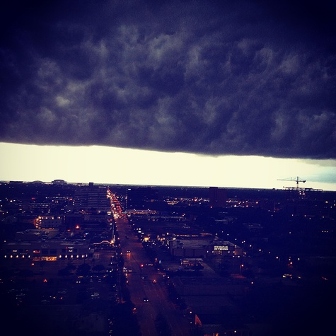 Stormy Houston weather photo from 2727 Kirby highrise