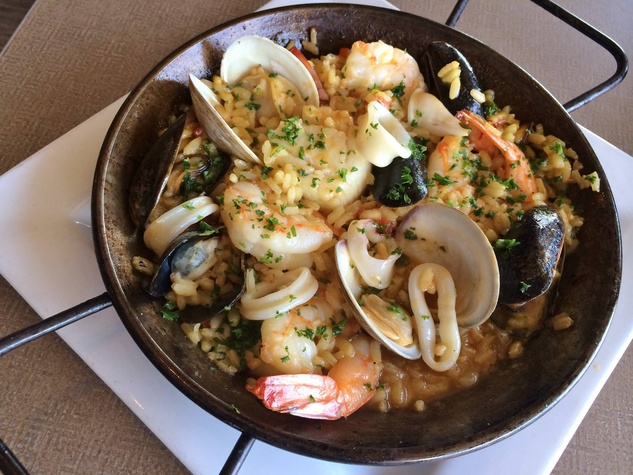 Paella at Sea Breeze Fish Market Grill in Plano