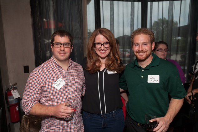 Phil Szymcer, from left, Jaclyn Martin and Jonathan Humphreys at Casa de Esperanza Young Professionals party July 2014