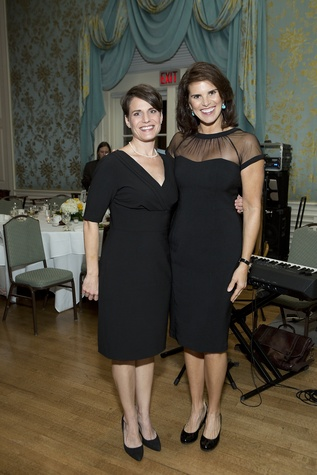 1054 Kelly Perdue, left, and Lisa Malosky at the Living Bank Gala October 2014