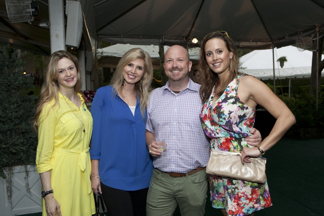 Elle Seybold, from left, Chalice McGee, Eirik Grottheim and Lindsay Parker at Bayou Bend's Bubbly on the Bend April 2014