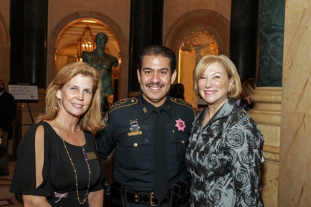 1 Sherri Kendal, from left, Adrian Garcia and Lynn Kamin at the AVDA Home Safe Home event October 2014