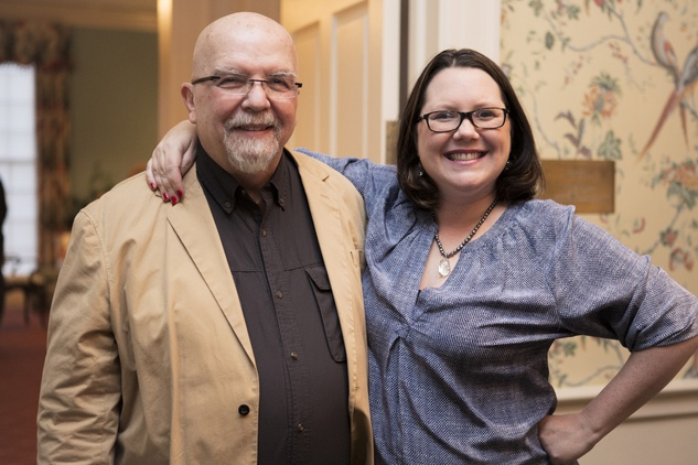 4 John Chakeres and Catherine Couturier at the Houston Center for Photography Print Auction February 2015