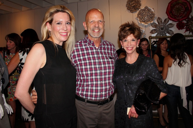 16 Mauri Oliver, from left, Clifford Pugh and Vicki Rizzo at the Dress for Dinner kickoff in new David Peck Showroom September 2014