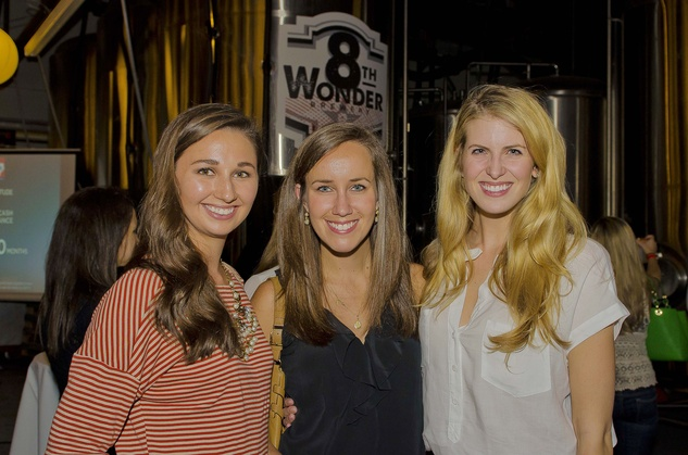 1 Allyson Camp, from left, Else Swann and Cat Yeatman at the Bear Bryant Awards young professionals party October 2014