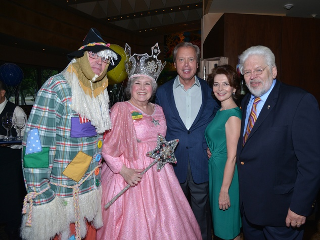 3S Carel Stith, from left, Bonnie Hellums, David Dewhurst, Lidya Osadchey and Gerald Franklin at the Emerald City ESCAPE Celebrity Serve Benefit April 2014