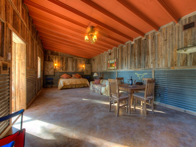 interior Red Adair ranch house patio