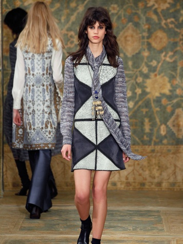 Clifford Fashion Week New York fall 2015 Tory Burch March 2015 Look 10
