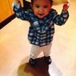 Go Texan Day February 2014 toddler with big cowboy hat