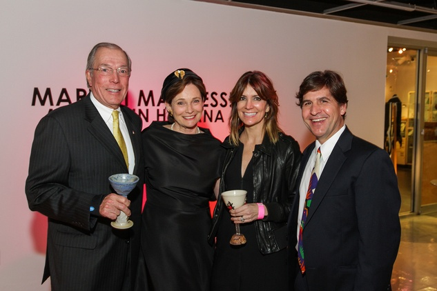 7 John and Bobbie Nau, from left, and Tiffany and Charles Masterson at Martini Madness February 2014