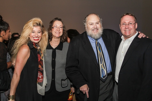 Sofia Adrogue, from left, Sandra Guerra Thompson, Michael Olivas and Jim Thompson at the Mayor's Hispanic Heritage Awards event October 2014