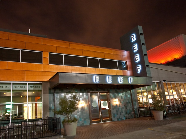 Reef restaurant Houston exterior night