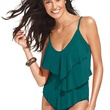 macys Magicsuit Swimsuit, Tiered Ruffle Tankini & Solid Brief Bottoms