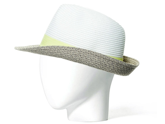 Zara tricolor hat with ribbon