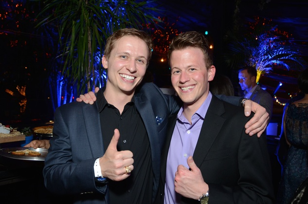 6 Dustin Roy, left, and John Powers at the Blue Cure Foundation benefit party at Hotel ZaZa June 2014