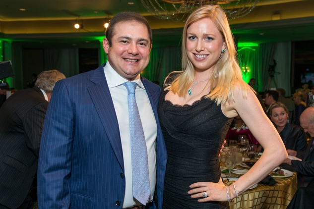 Phillip and Lori Sarofim at the Touchdown for Teachers dinner November 2014