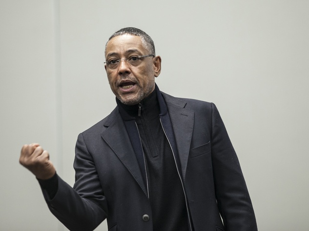 actor Giancarlo Esposito of Breaking Bad and Revolution talking at Austin Wizard World Comic Con