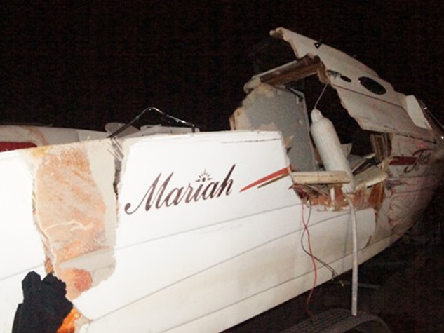 boat crash on Lake Conroe July 2014