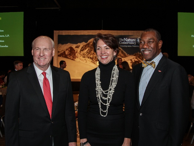8 Scotty Arnoldy, from left, Laura Huffman and Earl Ship at the Nature Conservancy luncheon November 2013