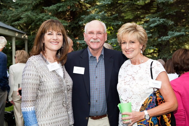 Ellie and Michael Francisco, from left, with Dr. Veronica Selinko-Curran at M.D. Anderson in Aspen July 2014