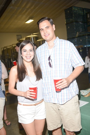 5. Jessica Vela and Cory Stull at the Bayou Preservation Association Herons party June 2014